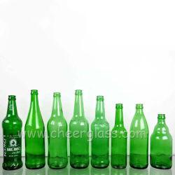 China proveedor 330ml cristal personalizado en color ámbar claro/azul/botella vacía de cerveza