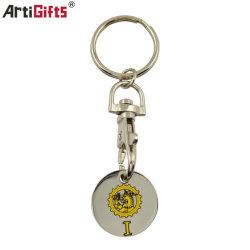 Custom Shopping Iron Trolley Coin sleutelhanger Metal Key Chain