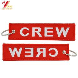 Verwijder vóór Zeer belangrijke Ketting van het Borduurwerk van de Markering van de Bagage van de Keten van de Vlucht de Zeer belangrijke Trekkracht Geweven (yB-e-028)