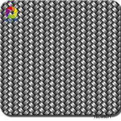 Tsautop 0,5 m de ancho grande de fibra de carbono negro textura hidrográfico de película para Hydro inmersión