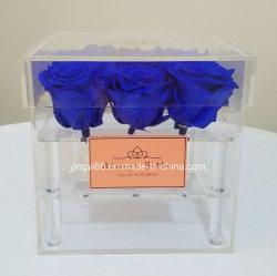Heißer verkaufender Acrylrosen-Kasten-Kristallblumen-Kasten-Geschenk-Kasten