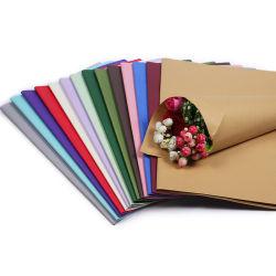 Gute Qualitätsgroßverkauf getrocknetes Blumen-Paket, das Braunes Packpapier einwickelt