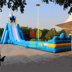 販売の大人/大きい極度の大きさで分類された膨脹可能な水スライドのための屋外の巨大で膨脹可能なカバ水スライド