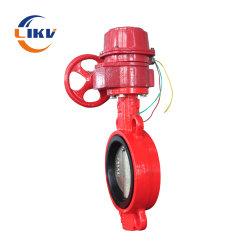 A tubulação da proteção contra incêndio Wcb Guiador de comando manual da válvula de borboleta da braçadeira de controle