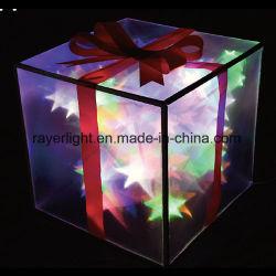 Ornamenti variopinti di natale di festa del contenitore di regalo della decorazione LED di illuminazione del PVC