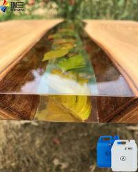 [إبوإكسي] [رسين] شفافة لخشب نهر طاولات
