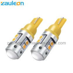 T10 W5w 501 194의 LED 호박색 노란 주황색 측면광 표시기 램프