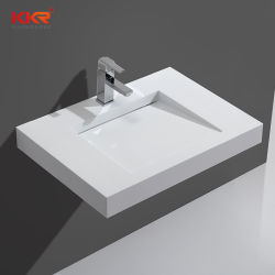 La vanità di superficie solida integrale di Corian supera il dispersore della stanza da bagno