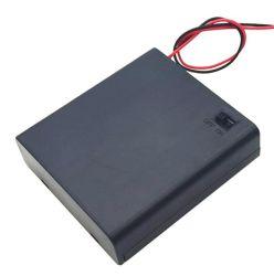 Con el interruptor AA y AAA Caja de batería y soporte de