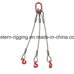La eslinga de cuerdas de alambre de acero con varias de las piernas, levantar el cable