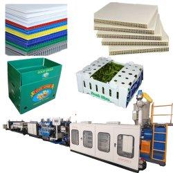 De PP/PC plástico polipropileno Grade Oco chapas nervuradas máquina extrusora para embalagem de cartão Caixa de Embalagem e descofragem Board