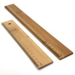 Diseño de la herramienta de medición de la regla de madera, caliente la venta en71 20cm de la regla de madera de bambú con escala Imprimir
