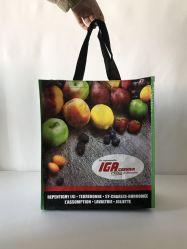 Fördernde Reuseable kundenspezifische Größen-pp. gesponnene Einkaufstasche