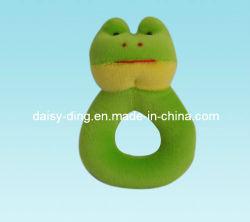 Cabeça de sapo de pelúcia Brinquedos Pet com tecido macio