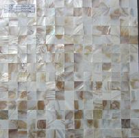Praça de flores naturais Mosaico Shell sem costura