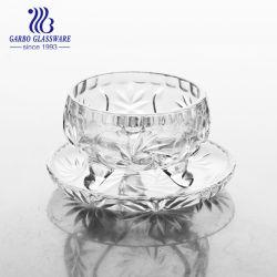 Recipiente in vetro piccolo con vassoio per candele e biscotti (TZ-GB16D48TY-4)