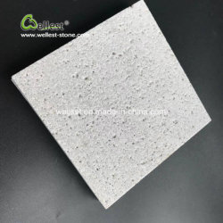 Acabado en gris plata Sandblasted pisos de mosaico travertino
