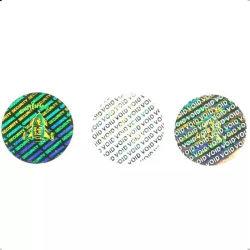 El logotipo impreso personalizado Void Etiqueta holograma para anti robo