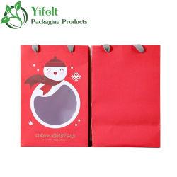 カスタム印刷紙袋クリスマスクリスマスクリスマスクリスマスクリスマスのクリスマスの主題のコート紙の技術 ペーパーボール紙のギフト袋