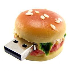 PVCハンバーガーの形USBのフラッシュ駆動機構の食糧サービス品のギフト