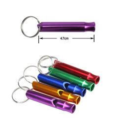 금속 옥외 생존 비상사태 소형 크기를 위한 Keychain 열쇠 고리를 가진 다기능 호각 펜던트는 옥외 장비를 취명한다