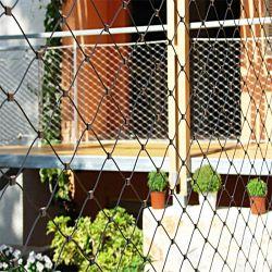 Bouwend het Decoratieve Netto Netwerk van de Kabel van de Draad van de Voorzijden van het Roestvrij staal