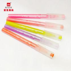 Kundenspezifische Leuchtstoff 10 Farben-Leuchtmarker-Markierungs-Feder-Acrylfeder-Spitze