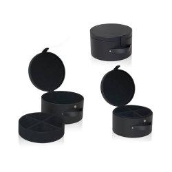 カスタム黒い円形の縫う収納箱(5227)