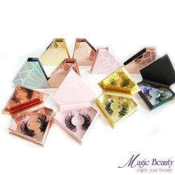 Plastikaugenschminke-Paletten-Wimper-Paket-Fall-Vertrags-Kasten-Kosmetik, die für Augen-Peitschen verpackt