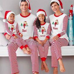 Conjunto de pijama de Natal de duas peças
