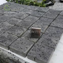 Pedra de cubos de granito dividido preto para o jardim do pátio de estacionamento