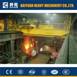 Amplamente utilizado na fábrica de aço Metalurgia Pontes Rolantes Ponte Rolante com gancho de portal e Pesados, 75t 100t 200t, até 500t