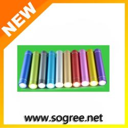 Heiße Sales Highquality Gift Colorful Portable 18650 Bank 2800mAh Battery Charger USB-Power mit LED