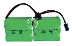 NiMH バッテリ AA 7.2V 1300mAh ( RC おもちゃバッテリ用