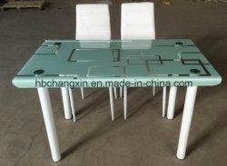 Современный обеденный стол из закаленного стекла,