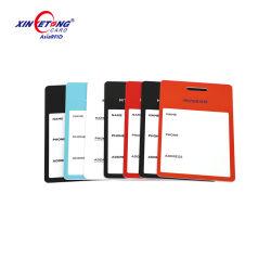 L'impression offset CMJN plastique PVC carte/bagages Luggage Tag