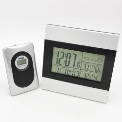 Backlighおよび温度計の湿度計のメートルが付いている天気予報の目覚し時計