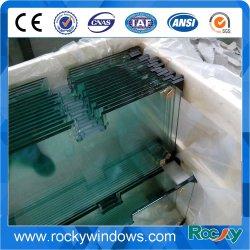 Vidrio templado con orificios para la construcción y mobiliario