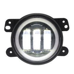 30W 6pzas CREE LED 5W/4'' de la luz de ángulo de la luz antiniebla Jeep Wrangler con Angel Eyes especial para Jeep con LED de luz de giro de la luz de coche