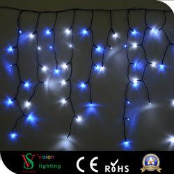 LED de plein air chute Icicle feux bleu et blanc
