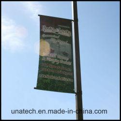 Rue lumière métal Pole bannière publicitaire Système de suspension du drapeau (UNA80)