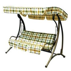 Hamaca de lujo Muebles de jardín patio 3 Plazas silla columpio con cojín (C1069)