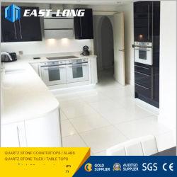 Polido Preto/Amarelo/branco/cinza ladrilhos de pedra de quartzo em pavimentações/cozinha/Design Inicial