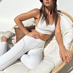 La Chine Usine Nouvelle mode gros Deep U-cou Veste Sexy costume de Yoga Hip-Lifting Sportswear
