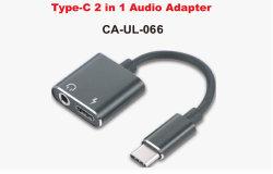 Audio+Adaptador de cargador para el iPhone 2 en 1 de la interfaz para Iph Audio Adaptador 3.5mm Adaptador para auricular para iPhone