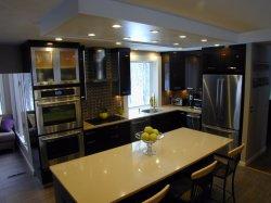 2018 Vermont high end Bespoke luxo personalizado sólidos de madeira clássico americano armário de cozinha