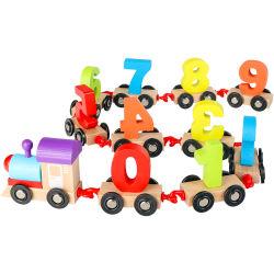 بيع بالجملة لعبة قطار خشبيّة مجموعة [ديجتل] مجموعات أدوات قطار لعبة للأطفال الصغار