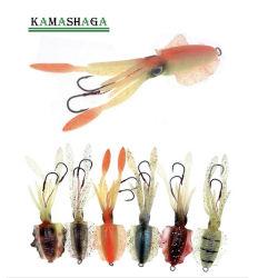 15cm weicher Kalmar-sehr weicher Karosserien-Krake-Fischen-Köder, weicher Fischen-Köder-weicher Köder-Fischen-Kalmar-Fischerei-Gerät