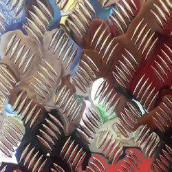 3003 5052 Brite diamant de la plaque de la voie de la plaque en alliage aluminium cinq bars Checker Plaque pour la boîte à outils