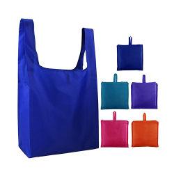 昇進のカスタムロゴの折りたたみによって印刷される高品質の安くリサイクルされたFoldable再使用可能な食料品の買い物袋